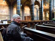 Тоня слушает Баха в Соборе Св.Николая в Амстердаме
